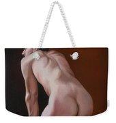Nude Male Kneeling Weekender Tote Bag