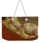Nude On A Red Weekender Tote Bag
