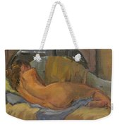 Nude On Chaise Longue Weekender Tote Bag