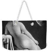 Nude Posing: Rear View Weekender Tote Bag