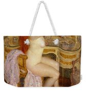 Nude Seated At Her Dressing Table Weekender Tote Bag