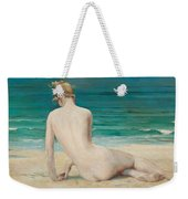 Nude Seated On The Shore Weekender Tote Bag