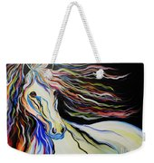 Nuella Horse With The White Shoulder Weekender Tote Bag