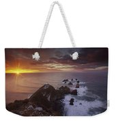 Nugget Point Lighthouse At Sunrise Weekender Tote Bag