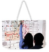 Nuit Blanche Map Weekender Tote Bag