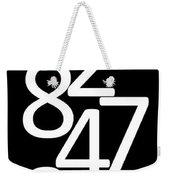 Numbers In Black And White Weekender Tote Bag