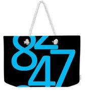 Numbers In Blue And Black Weekender Tote Bag