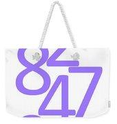 Numbers In Purple Weekender Tote Bag
