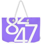 Numbers In White And Purple Weekender Tote Bag