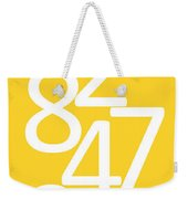 Numbers In Yellow And White Weekender Tote Bag