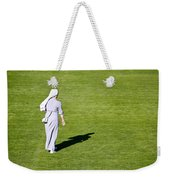Nun On Green Soccer Field Weekender Tote Bag by Brch Photography