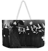 Nun Swivels Hula Hoop On Hips Weekender Tote Bag