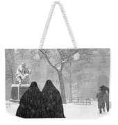 Nuns In Snow New York City 1946 Weekender Tote Bag