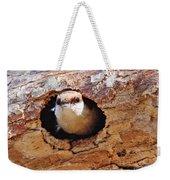 Nuthatch Bird In Nest Weekender Tote Bag