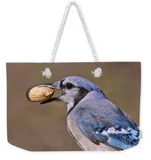 Nutty Bluejay Weekender Tote Bag