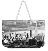 Ny Skyline Light And Shadows Weekender Tote Bag