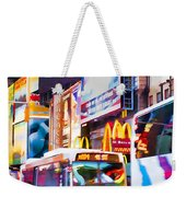 Ny Times Square Impressions Iv Weekender Tote Bag