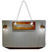 Nyc City Hall Subway Station Weekender Tote Bag
