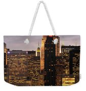 Nyc Midtown Golden Lights Weekender Tote Bag