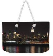 Nyc Skyline At Night Weekender Tote Bag