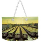 Nyc Subway Cars Weekender Tote Bag