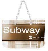Nyc Subway Sign Weekender Tote Bag