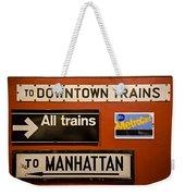 Nyc Subway Signs Weekender Tote Bag