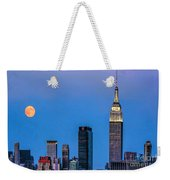 Nyc Under The Supermoon Weekender Tote Bag
