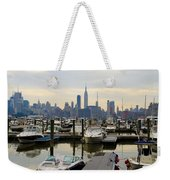 Nyc View From Lincoln Harbor Weehawkin Nj Weekender Tote Bag