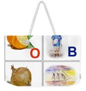 O Boy Art Alphabet For Kids Room Weekender Tote Bag by Irina Sztukowski