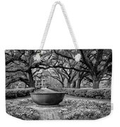 Oak Alley Plantation Landscape In Bw Weekender Tote Bag