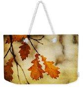 Oak Leaves At Autumn Weekender Tote Bag