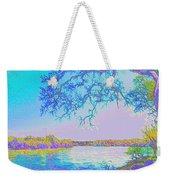 Oak On The Sacramento River - Pastel Weekender Tote Bag