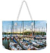 Oak Pt Harbor At Sundown Weekender Tote Bag