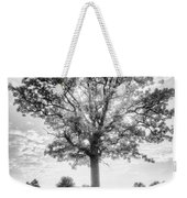 Oak Tree Bw Weekender Tote Bag