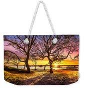 Oak Trees At Sunrise Weekender Tote Bag