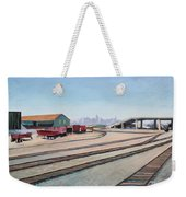 Oakland Train Tracks And San Francisco Skyline Weekender Tote Bag