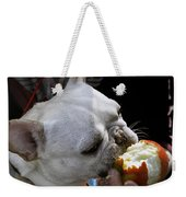 Oat Meal The French Bull Dog Weekender Tote Bag