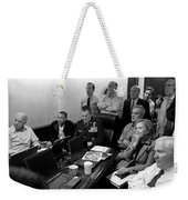 Obama In White House Situation Room Weekender Tote Bag
