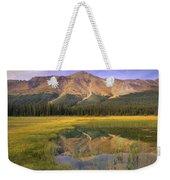 Observation Peak And Coniferous Forest Weekender Tote Bag