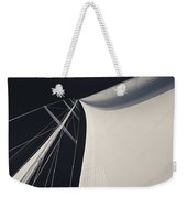 Obsession Sails 3 Black And White Weekender Tote Bag