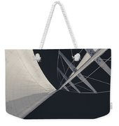 Obsession Sails 8 Black And White Weekender Tote Bag