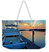 Ocean Addiction Sunset Weekender Tote Bag