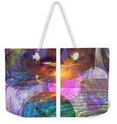 Ocean Fire - Square Version Weekender Tote Bag