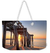 Ocean Grove Pier Sunrise Weekender Tote Bag