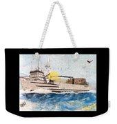 Ocean Olympic King Crab Fishing Boat Nautical Chart Map Art Weekender Tote Bag