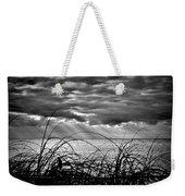 Ocean Rays Black And White Weekender Tote Bag