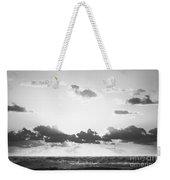 Ocean Sunrise Black And White Weekender Tote Bag