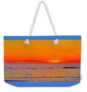 Ocean Sunset In Orange And Blue Weekender Tote Bag