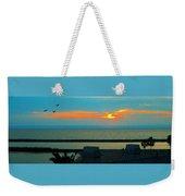 Ocean Sunset With Birds Weekender Tote Bag